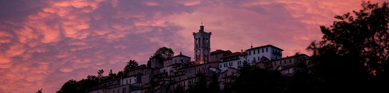 veduta Sacro Monte tramonto